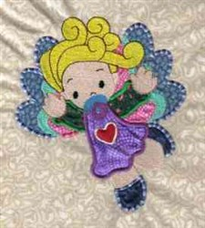 Girl Angel embroidery design