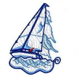 Sailboat Scene embroidery design