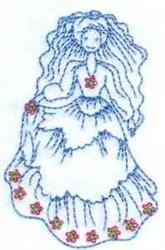 Bluework Bride embroidery design