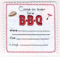 BBQ Invitation embroidery design