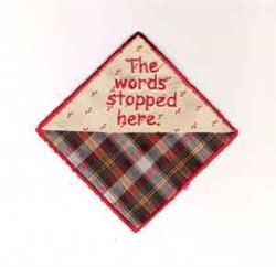 Words Stopped Here embroidery design