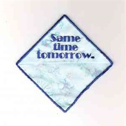 Same Time embroidery design