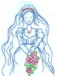Bluework Bridal embroidery design