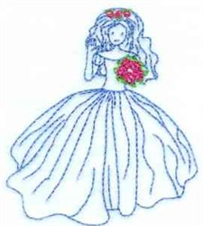 Bridal Bluework embroidery design