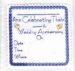 Wedding Anniversary embroidery design