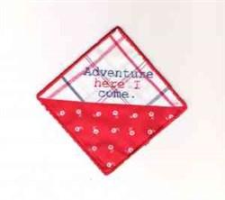 Corner Bookmark embroidery design