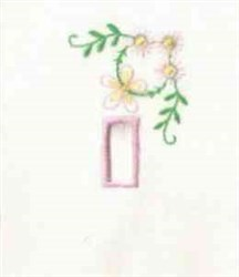 Flower & Rectangle embroidery design
