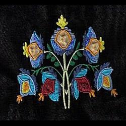 Floral Jacobean Applique embroidery design