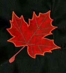 Applique Autumn Maple Leaf embroidery design