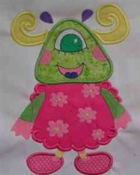 Applique Monster embroidery design