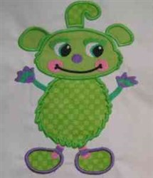 Monster Applique embroidery design