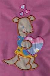 Applique Heart Roo embroidery design