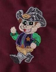 Applique Sheriff embroidery design