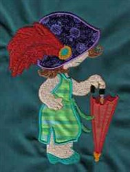 Sunbonnet Dress-up embroidery design