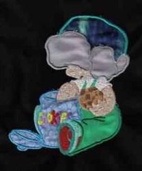 Sunbonnet Cookie Jar embroidery design