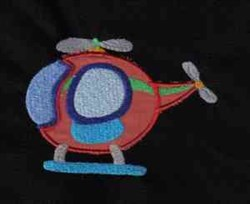 Applique Helicopter embroidery design
