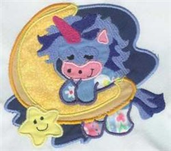 Applique Celestial Unicorn embroidery design