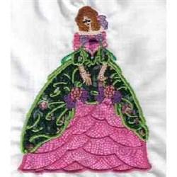 Applique Floral Dress embroidery design