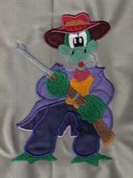Applique Rifle embroidery design