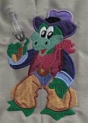 Applique Pistol Frog embroidery design