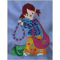 Applique Dress-Up embroidery design