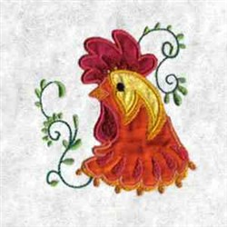 Applique Rooster embroidery design