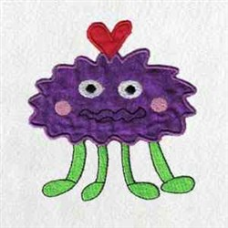Applique Love Monster embroidery design