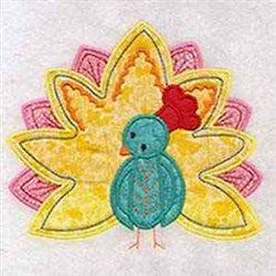 Applique Peacock embroidery design