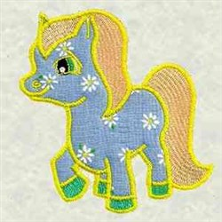 Applique Pony embroidery design