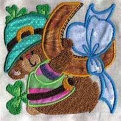 Applique Pattys Monkey embroidery design