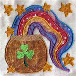 Applique Pattys Rainbow embroidery design