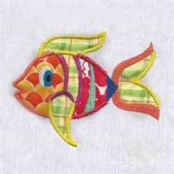Applique Cute Fish embroidery design