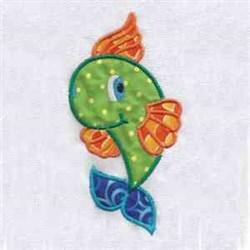 Applique Colorful Fish embroidery design