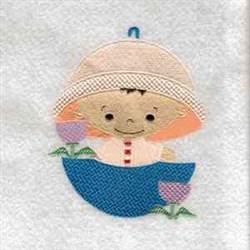 April Showers Cutie embroidery design