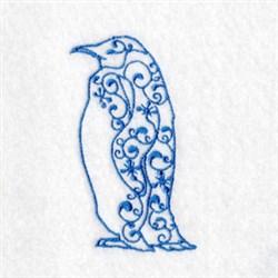Bluework Arctic Penguin embroidery design
