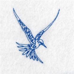Bluework Arctic Bird embroidery design