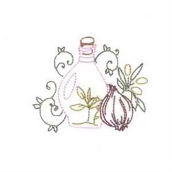 Olive Oil & Garlic embroidery design
