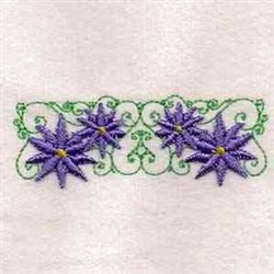 Australian Wildflower Border embroidery design