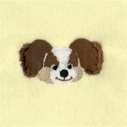 Wrap Fringe Pup embroidery design