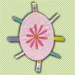 Flower Taggy Toy embroidery design