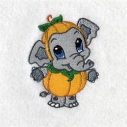 Elephant Pumpkin embroidery design