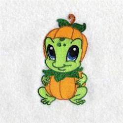 Frog Pumpkin embroidery design