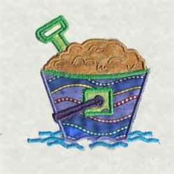 Beach Bum Pail embroidery design