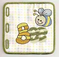 Babys Wordbook Bee embroidery design
