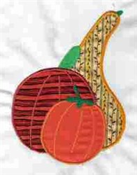 Applique Thankful Gourds embroidery design
