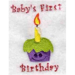 Babys First Birthday embroidery design