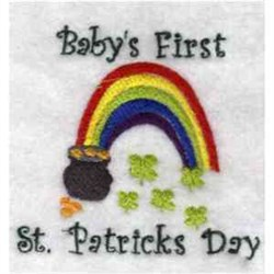 Babys First St. Pattys embroidery design