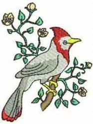 Bird & Flowers embroidery design