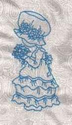 Bluework Sunbonnet embroidery design