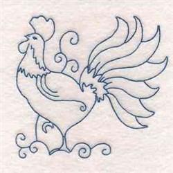 Bluework Cockerel embroidery design